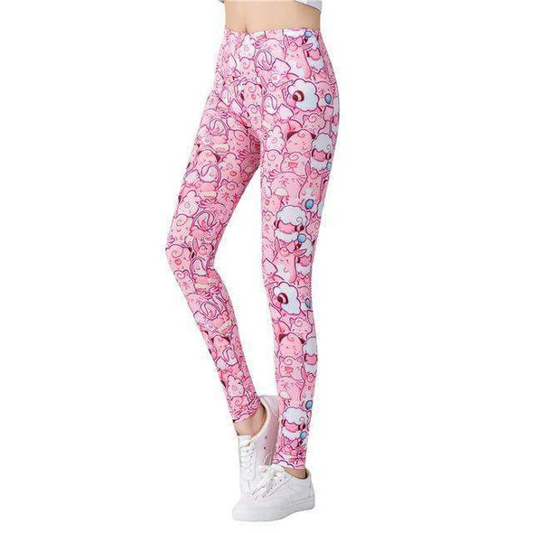 Fitness or Casual Leggings | Pinky-Leggings-SHED71-SHED71