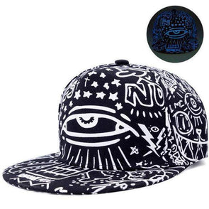 Fluorescent Light Series Hip Hop Cap | Blue Eye-Caps-SHED71-SHED71