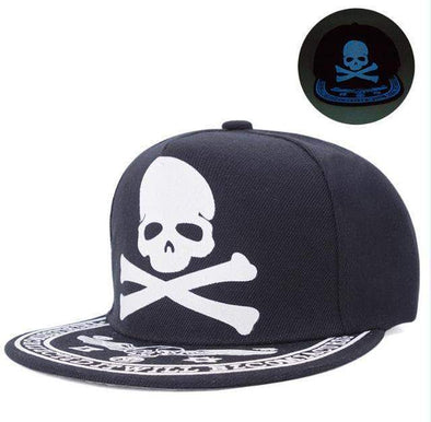 Fluorescent Light Series Hip Hop Cap | Blue Skull & Bones-Caps-SHED71-SHED71