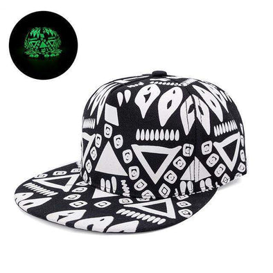 Fluorescent Light Series Hip Hop Cap | Green Aztec-Caps-SHED71-SHED71