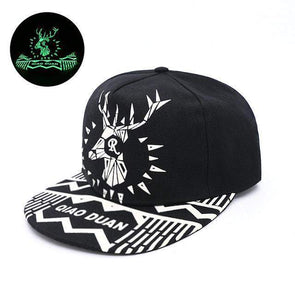 Fluorescent Light Series Hip Hop Cap | Green Deer-Caps-SHED71-SHED71