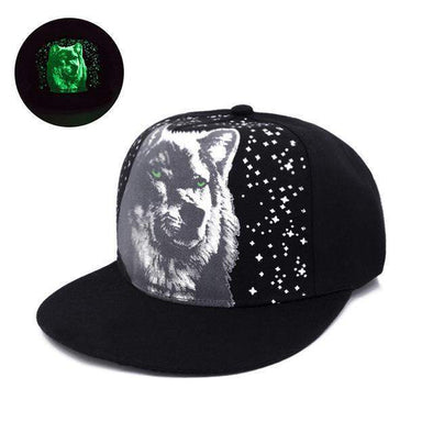 Fluorescent Light Series Hip Hop Cap | Green Wolf-Caps-SHED71-SHED71
