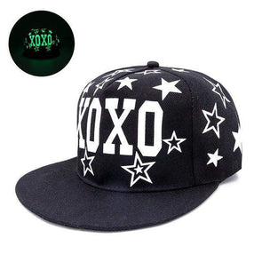 Fluorescent Light Series Hip Hop Cap | Green XOXO-Caps-Urban Poppies-SHED71