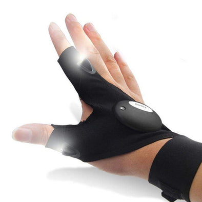 LED Flashlight Fingerless Glove-Gadget-SHED71-SHED71