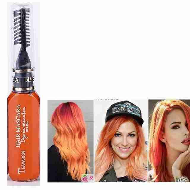 Temporary Diy Hair Dye Color Orange Shed71