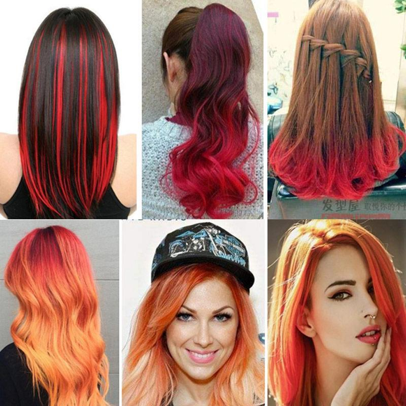 Temporary DIY Hair Dye Color | Red