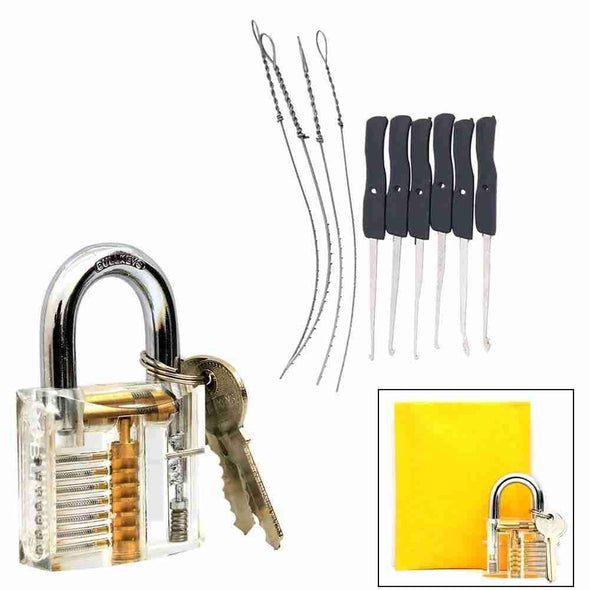 Transparent practice Padlock with tools-Gadget-SHED71-SHED71
