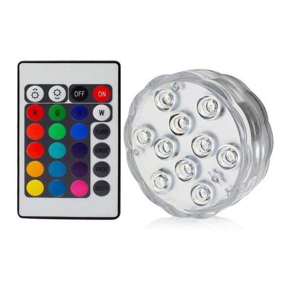Underwater Lights with Remote Control-Gadget-SHED71-1 Remote 1 Light-SHED71