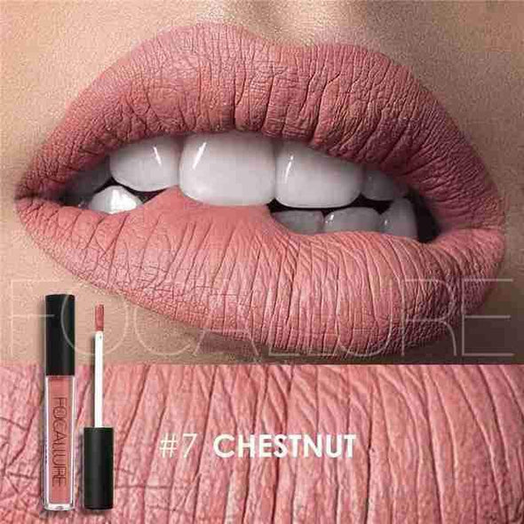 Waterproof Long-Lasting Liquid Lipstick | Chestnut Matte-Beauty-SHED71-SHED71