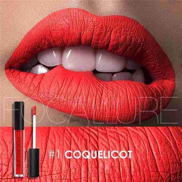 Waterproof Long-Lasting Liquid Lipstick | Coquelicot Matte-Beauty-SHED71-SHED71