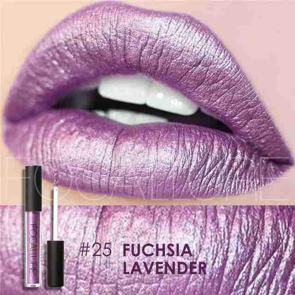 Waterproof Long-Lasting Liquid Lipstick | Fuchsia Lavender Gloss-Beauty-SHED71-SHED71