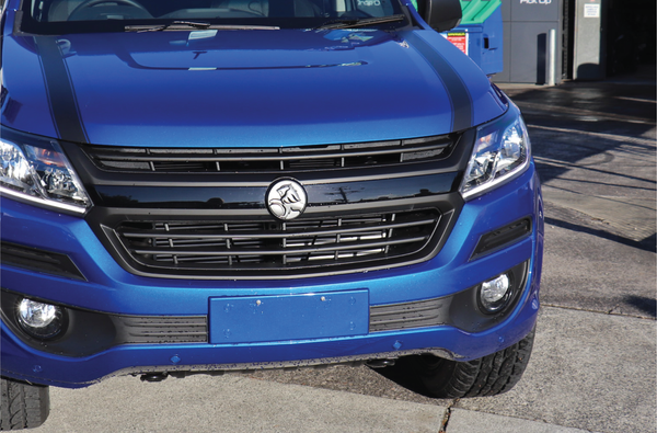 holden collorado, electric blue, chrome delete