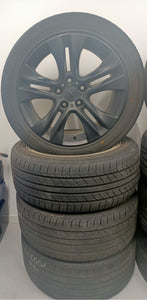 (SECOND HAND) FORD 17inch BLACK WHEELS & TYRES 235/45R17