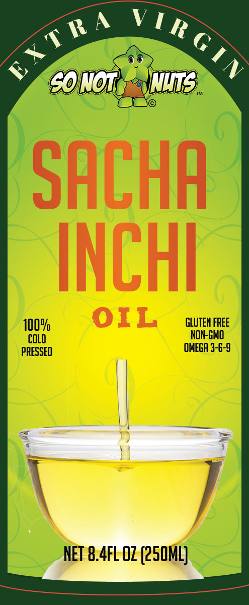Sacha Inchi Oil 8.4FL.OZ (250ml) - 100% COLD PRESSED - ORGANIC SUPERFOOD