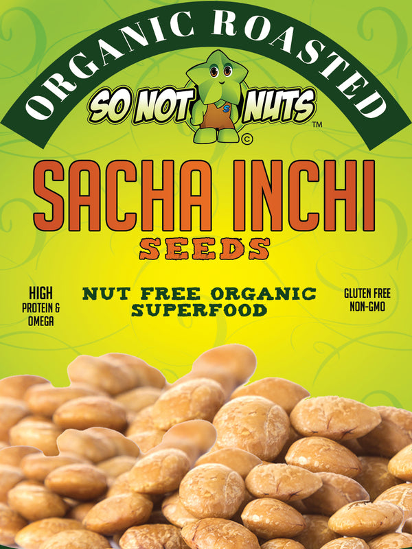 Organic Roasted Sacha Inchi Seeds 10.6oz - With added Sea Salt