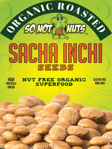 Sacha Inchi Seeds 10.6oz - NUT FREE ORGANIC ROASTED SUPERFOOD - HIGH PROTEIN & OMEGA - NON GMO