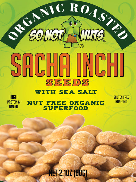 Organic Roasted Sacha Inchi Seeds 12.6oz - With No Added Salt