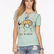 The Rodeo Circus Tee by Double D Ranch Celadon