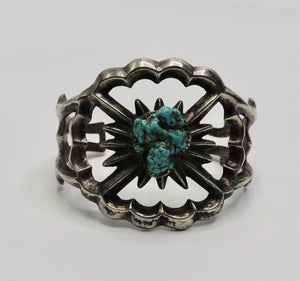 Turquoise Nugget Cuff