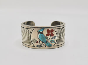 Silver Blue Jay Cuff by J Livingston