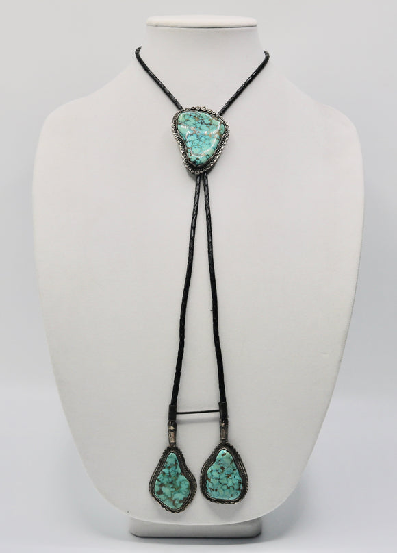 Nugget Turquoise Bolo Tie
