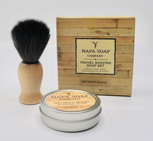 Travel Shaving Soap Set -By Napa Valley Soap Co.