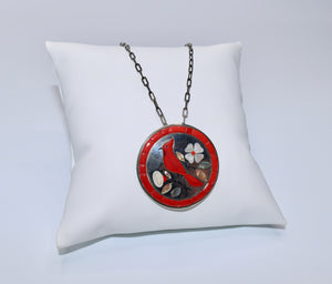 Red Cardinal Pendant Necklace by J. Livingston