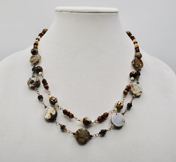 Firecracker Agate Necklace