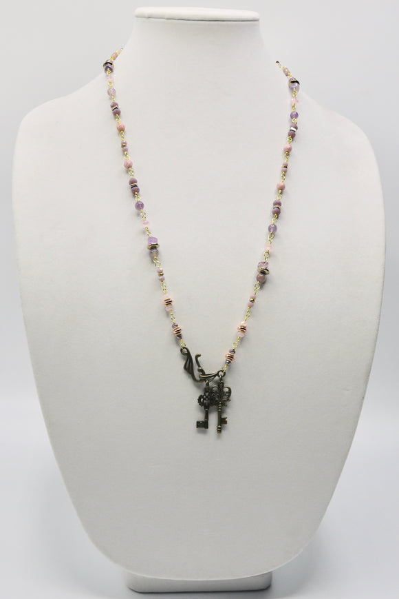Amethyst & Soft Pink Necklace