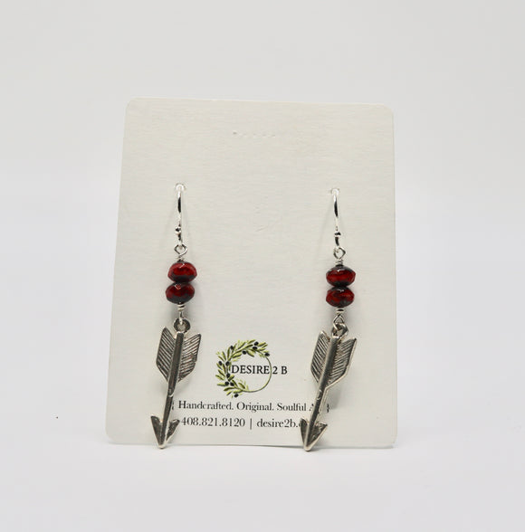 Czech Glass Arrow Earrings