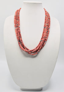 Spiny Oyster 5 Strand Necklace