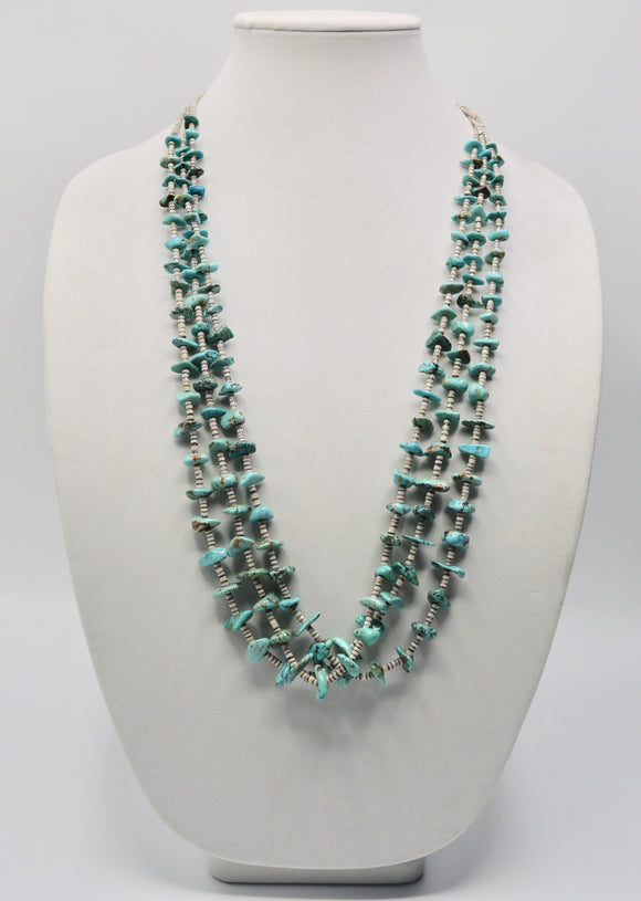 3 Strand Nugget Turquoise Necklace