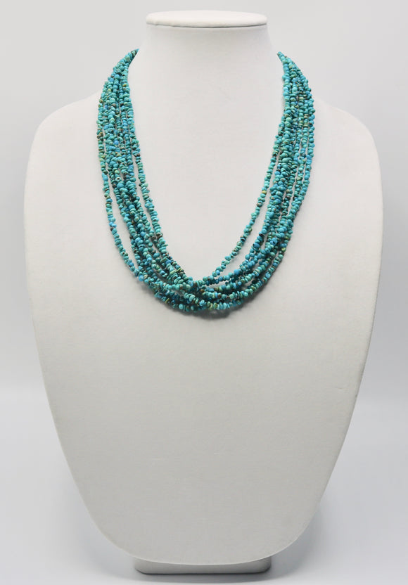 Turquoise and Brown Heishi Bead Necklace