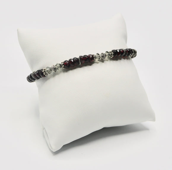 Red Quartz Beaded Bracelet