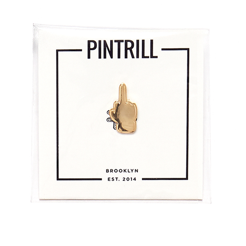 Gold Middle Finger Pin