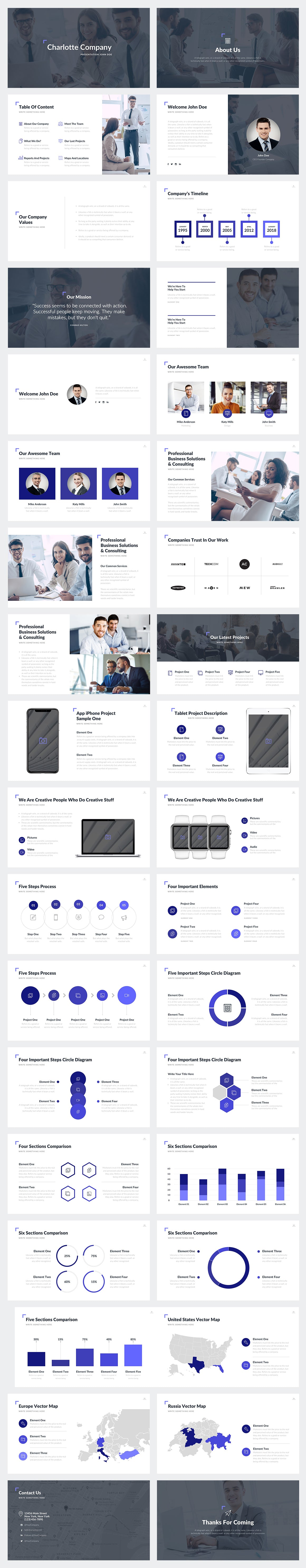 Charlotte Google Slides Template Preview