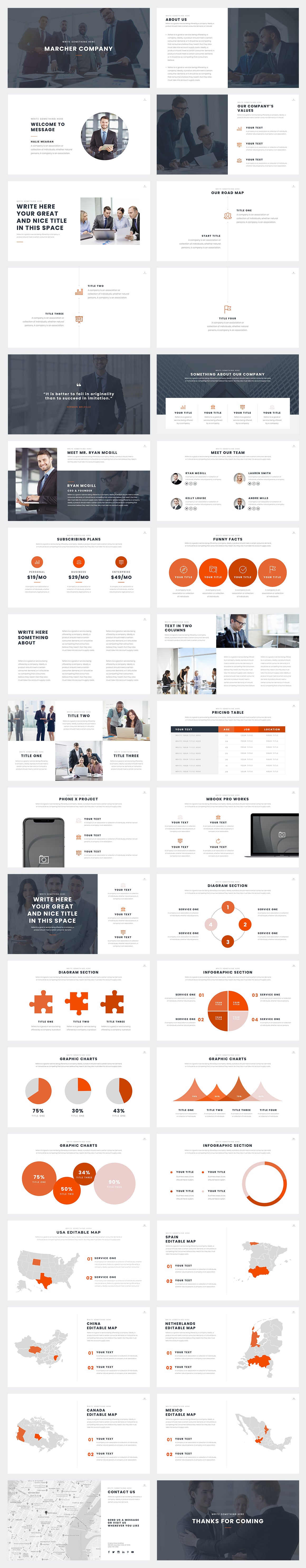 Marcher PowerPoint Template Slides Preview