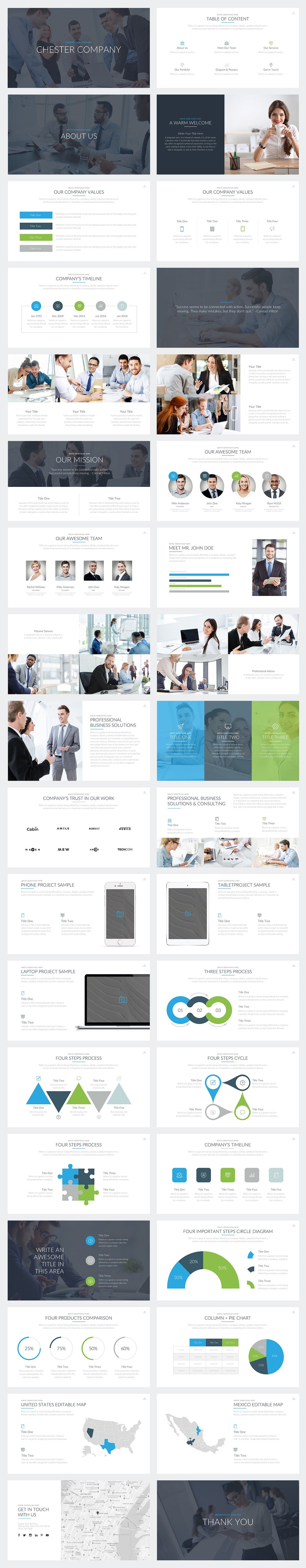 Chester PowerPoint Template Slides Preview