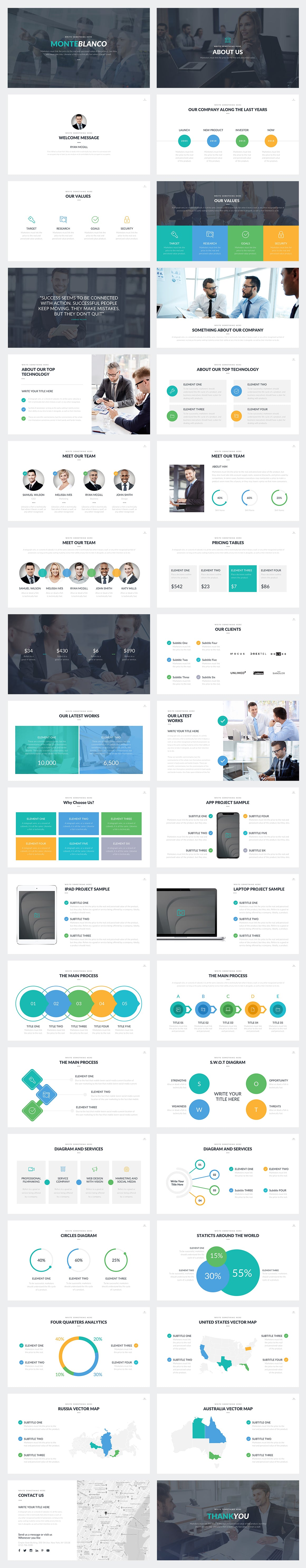 Monteblanco Google Slides Template Preview