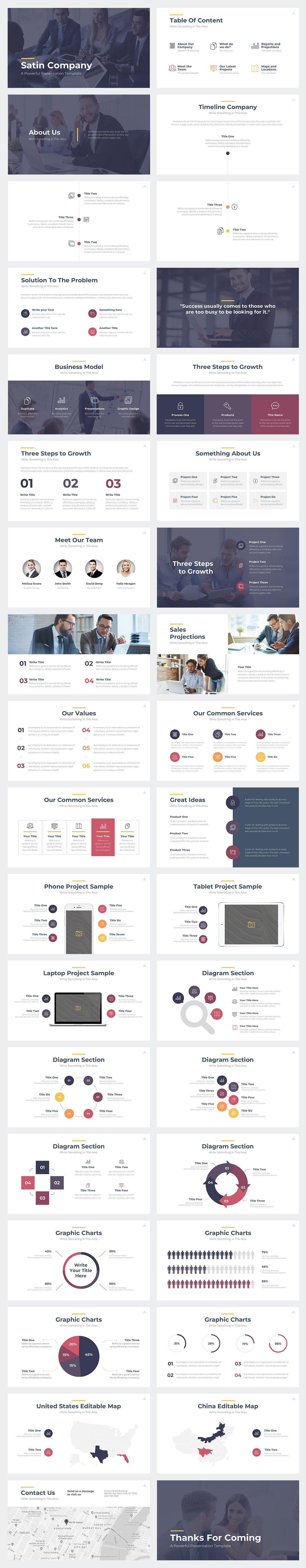 Satin Google Slides Template Preview