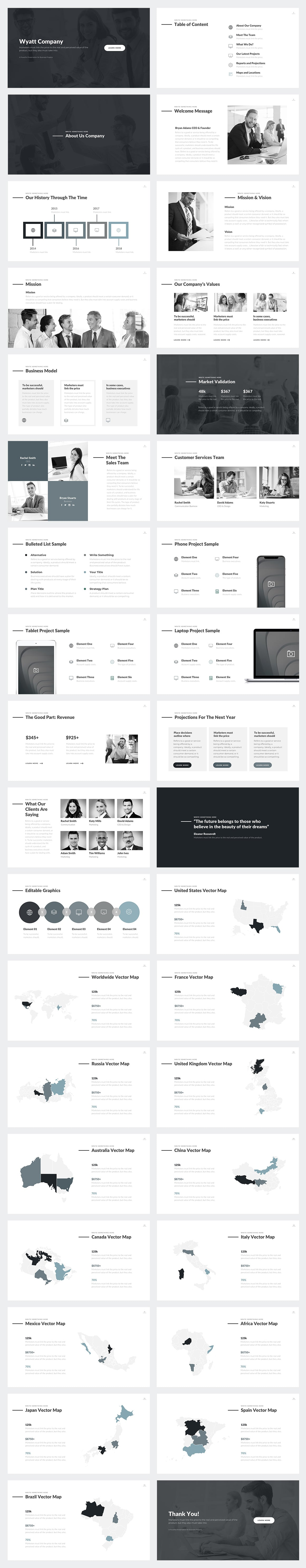 Wyatt PowerPoint Template Slides Preview