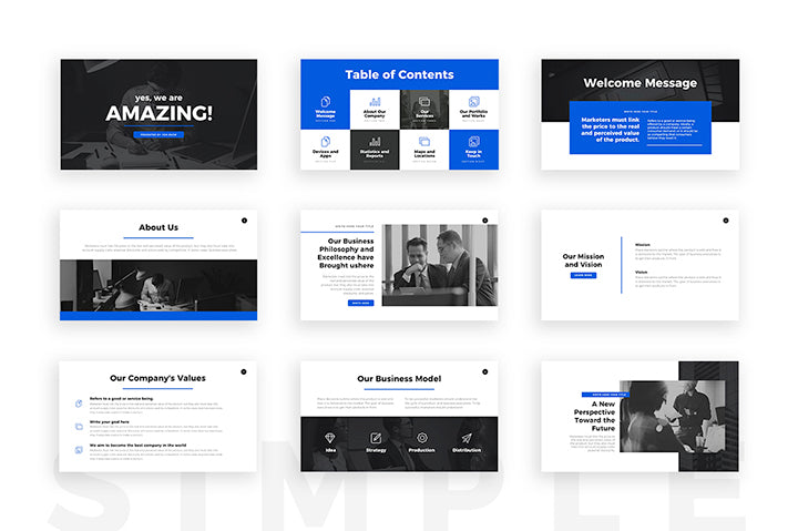 Amazing Keynote Template