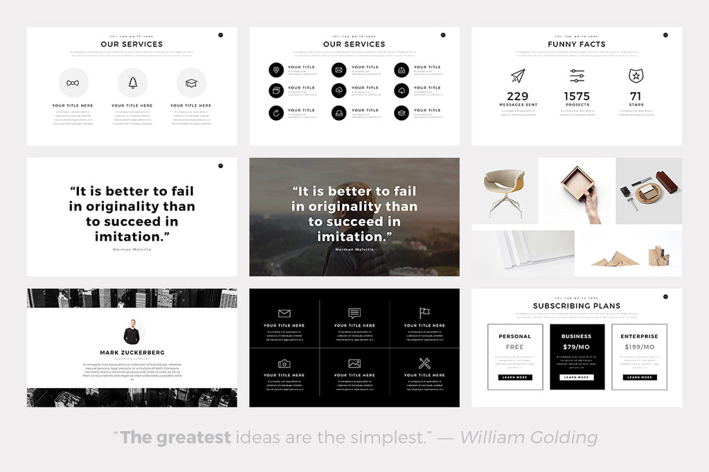 Ghost minimal powerpoint template slideforest ghost minimal powerpoint template toneelgroepblik Images