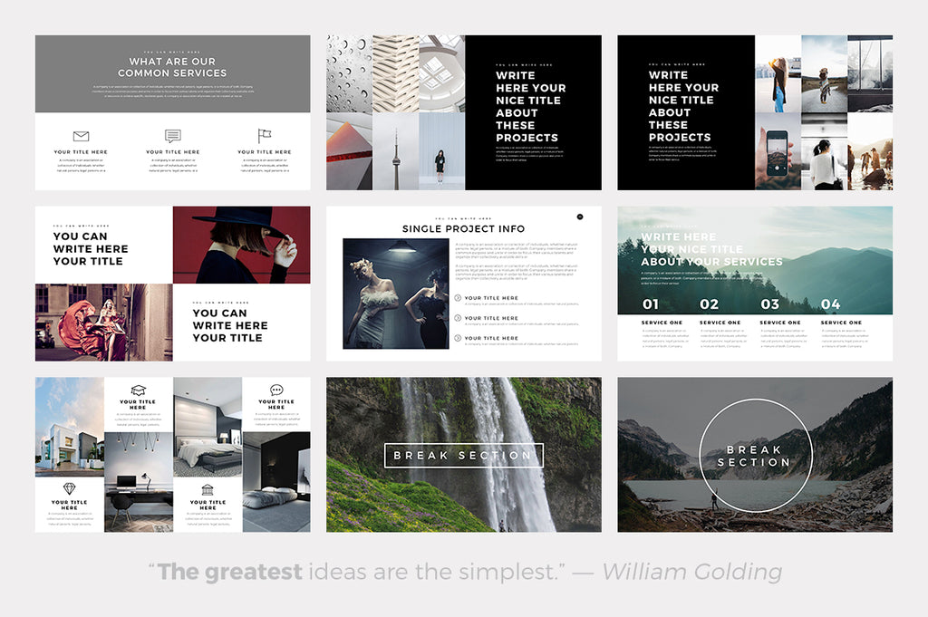ghost minimal powerpoint template – slideforest, Powerpoint templates
