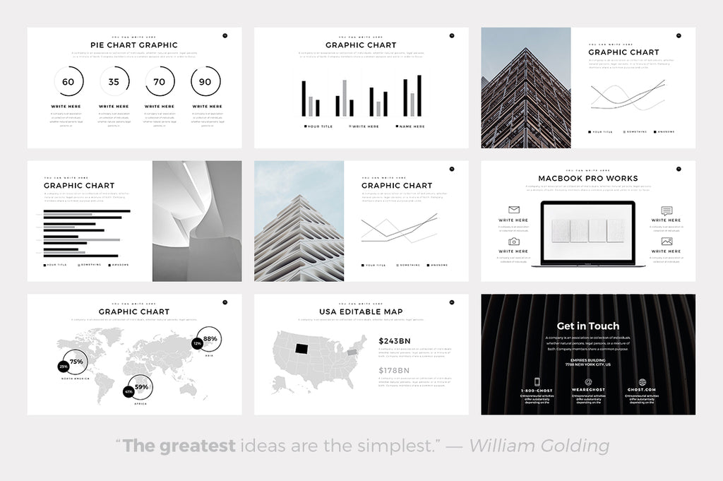 Ghost Minimal PowerPoint Template - Presentation Templates on Slideforest