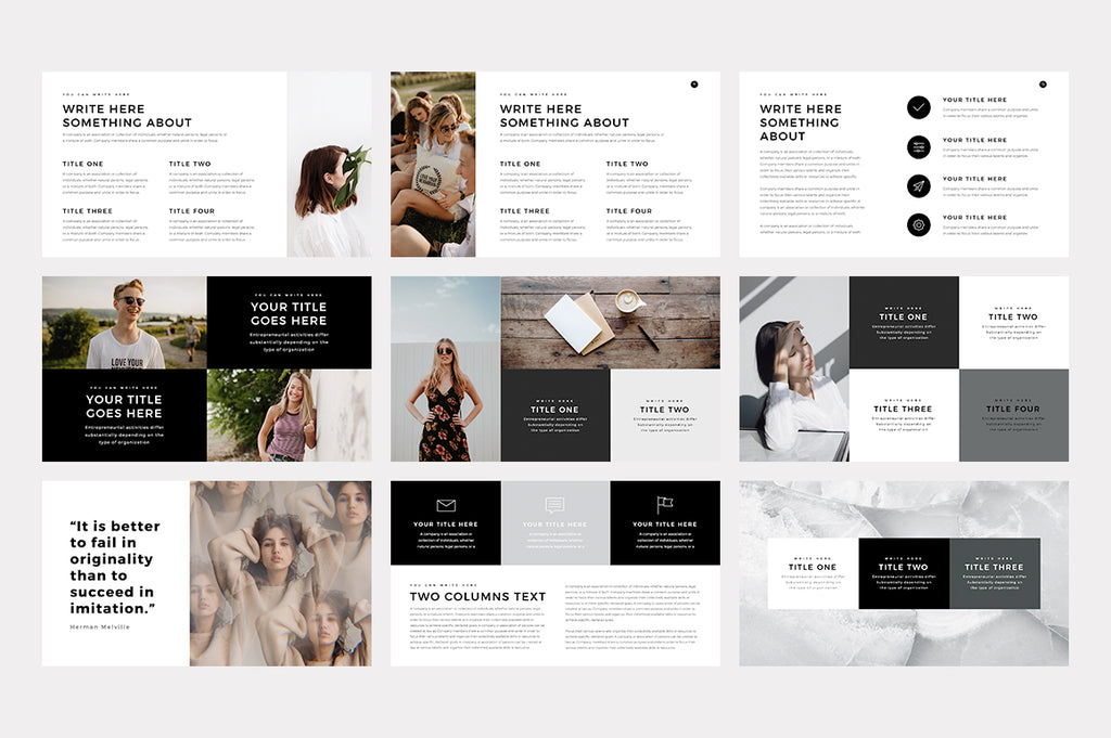 Minimal Powerpoint Template - Presentation Templates on Slideforest
