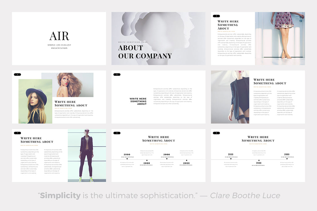 Air Minimal Keynote Template - Presentation Templates on Slideforest