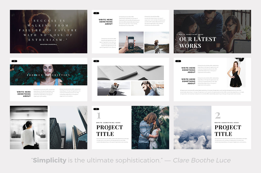 Air Minimal Powerpoint Template