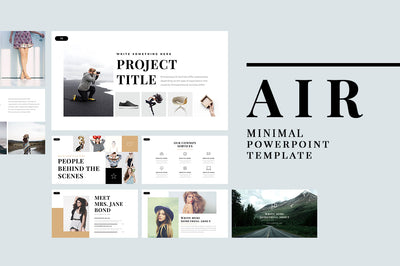 Air Minimal Powerpoint Template - Presentation Templates on Slideforest
