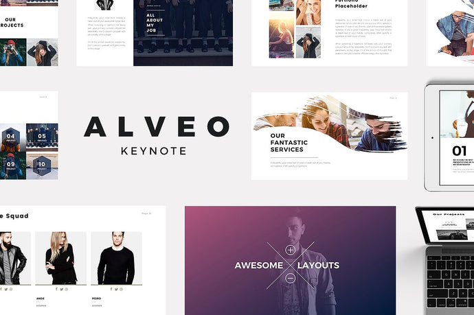 Alveo Minimal Keynote Template - Presentation Templates on Slideforest